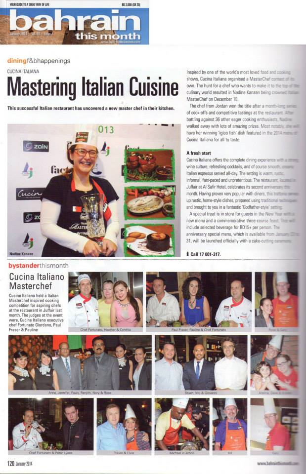 media & press | cucina italiana - Master Cucina Italiana